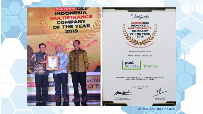 PT Pool Advista Finance Tbk. Mendapatkan Penghargaan Indonesia Multifinance Company of the Year 2019 dari Warta Ekonomi